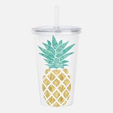 Golden Pineapple Acrylic Double-wall Tumbler