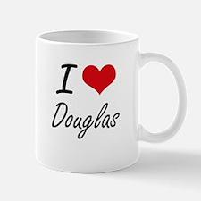 I Love Douglas artistic design Mugs