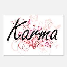 Karma Artistic Name Desig Postcards (Package of 8)