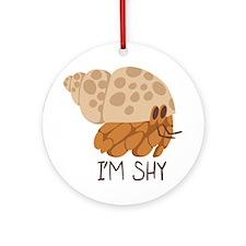 Im Shy Crab Round Ornament