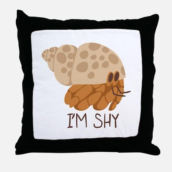 Im Shy Crab Throw Pillow