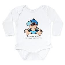 Unique Funny infant Long Sleeve Infant Bodysuit
