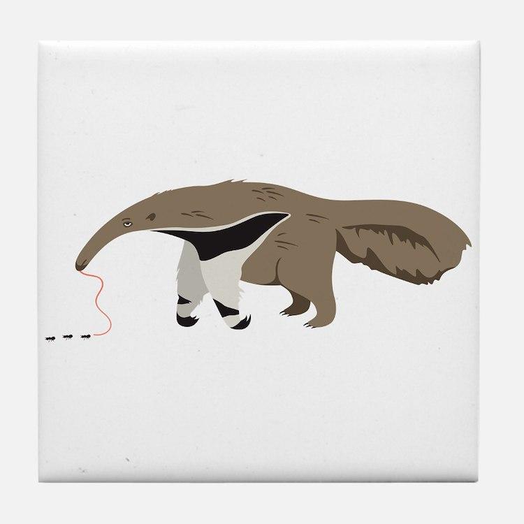 Anteater Ants Tile Coaster