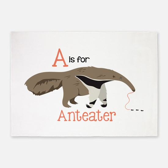 A is for Anteater 5'x7'Area Rug
