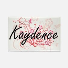 Kaydence Artistic Name Design with Flowers Magnets