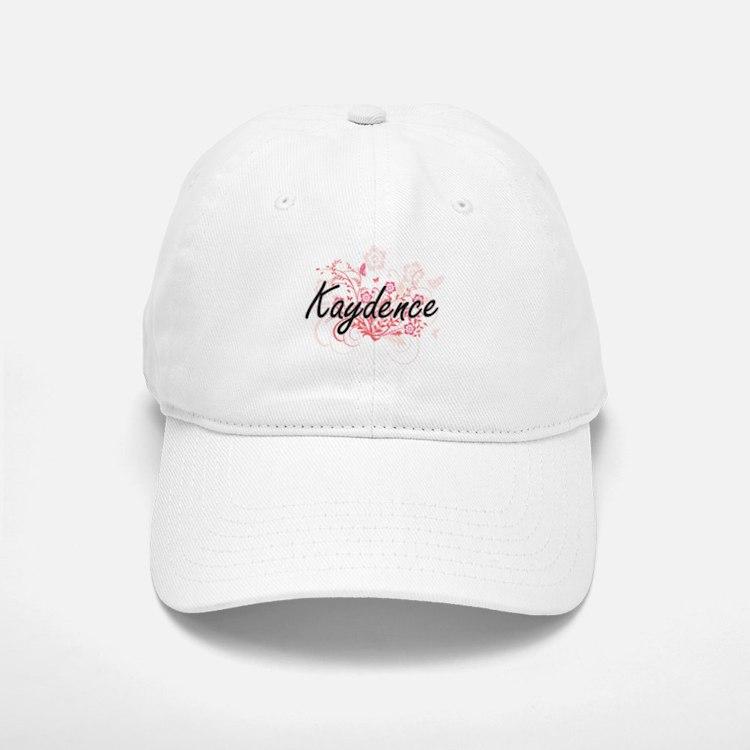 Kaydence Artistic Name Design with Flowers Baseball Baseball Cap