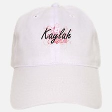 Kaylah Artistic Name Design with Flowers Baseball Baseball Cap