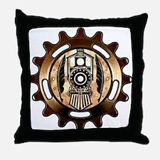 Stock Pen Station (icon) Throw Pillow