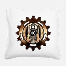 Stock Pen Station (icon) Square Canvas Pillow