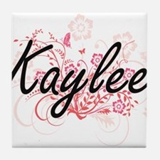 Kaylee Artistic Name Design with Flow Tile Coaster