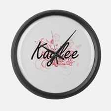 Kaylee Artistic Name Design with Large Wall Clock