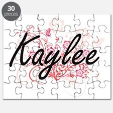 Kaylee Artistic Name Design with Flowers Puzzle