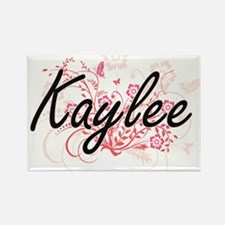 Kaylee Artistic Name Design with Flowers Magnets