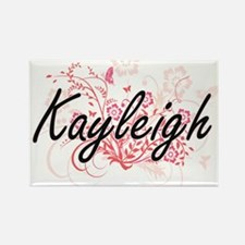Kayleigh Artistic Name Design with Flowers Magnets
