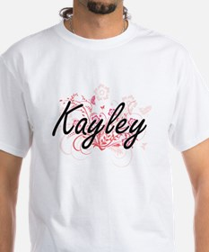 Kayley Artistic Name Design with Flowers T-Shirt