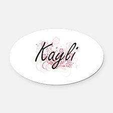 Cute Kayli Oval Car Magnet