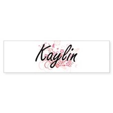 Kaylin Artistic Name Design with Fl Bumper Bumper Sticker
