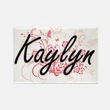 Kaylyn Artistic Name Design with Flowers Magnets