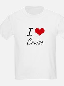 I Love Cruise artistic design T-Shirt