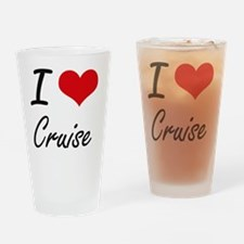 I Love Cruise artistic design Drinking Glass