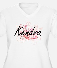 Kendra Artistic Name Design with Plus Size T-Shirt
