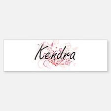 Kendra Artistic Name Design with Fl Bumper Bumper Bumper Sticker