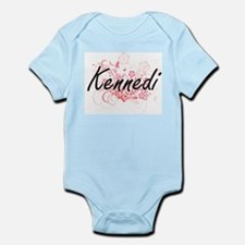 Kennedi Artistic Name Design with Flower Body Suit