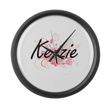 Kenzie Artistic Name Design with Large Wall Clock