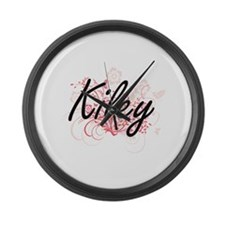 Kiley Artistic Name Design with F Large Wall Clock