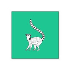 Lemur on Green Sticker