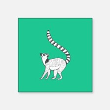 Lemur on Green Sticker