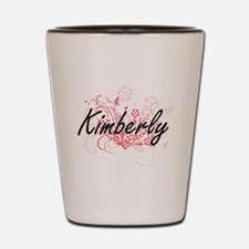 Kimberly Artistic Name Design with Flow Shot Glass
