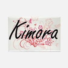 Kimora Artistic Name Design with Flowers Magnets