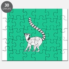 Lemur on Green Puzzle
