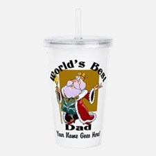 Worlds Best Dad Acrylic Double-Wall Tumbler