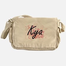 Kya Artistic Name Design with Flower Messenger Bag