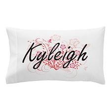 Kyleigh Artistic Name Design with Flow Pillow Case