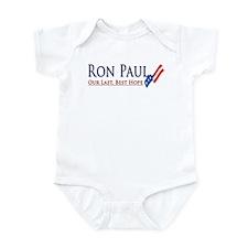 Ron Paul: Our Last, Best Hope Infant Bodysuit