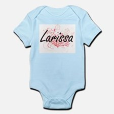 Larissa Artistic Name Design with Flower Body Suit