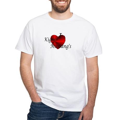 I Love Kiger Mustangs White T-Shirt