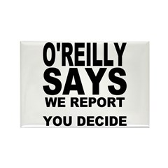 WE REPORT YOU DECIDE Rectangle Magnet (10 pack)
