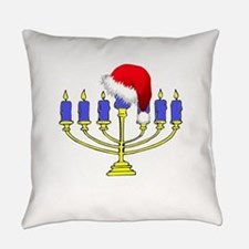 Christmas Menorah Everyday Pillow