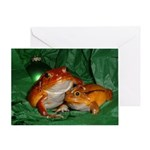 Holiday Tomato Frog Greeting Card