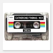 "Mixtape CUSTOM label and year Square Car Magnet 3"""