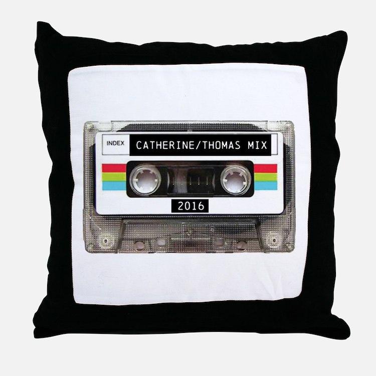 Mixtape CUSTOM label and year Throw Pillow