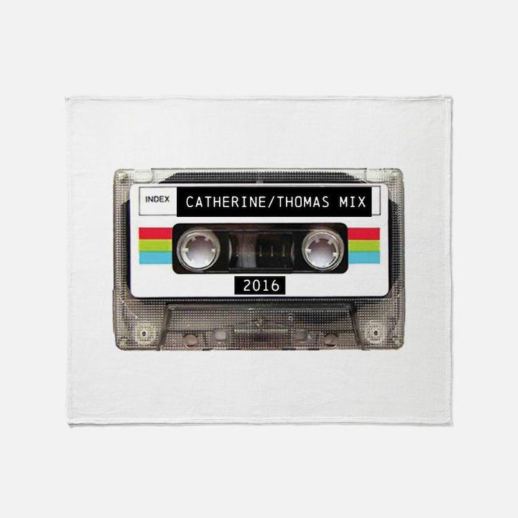 Mixtape CUSTOM label and year Throw Blanket