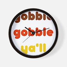 Gobble Ya'll Wall Clock