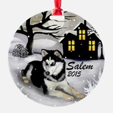 Siberian Husky Dog Salem Ornament