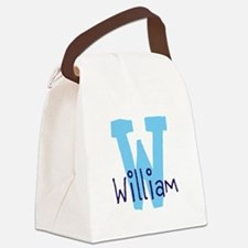Monogram and Initial Canvas Lunch Bag