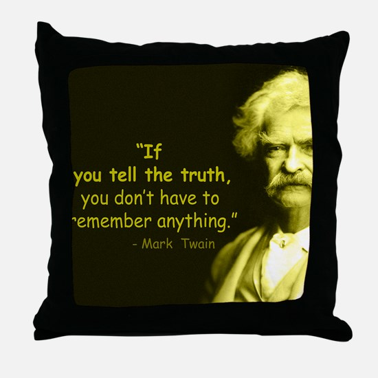 Funny Truth Throw Pillow